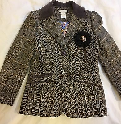 Beautiful Riding Style Jacket From Monsoon. Size 5-6