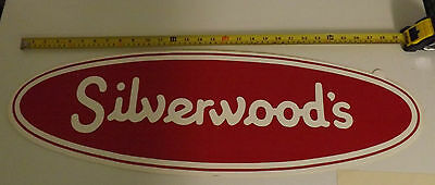 "Silverwood's (Dairy) 30"" Vintage Window Decal. Unused. With Mounting Instruction"