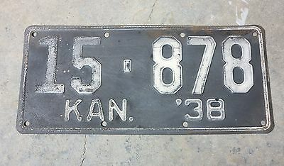 1938 Kansas License Plate, Atchison County, 15-878