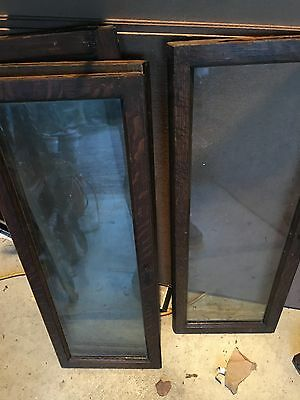 Antique Oak Stacking Bookcase DOOR & GLASS SECTION Barrister
