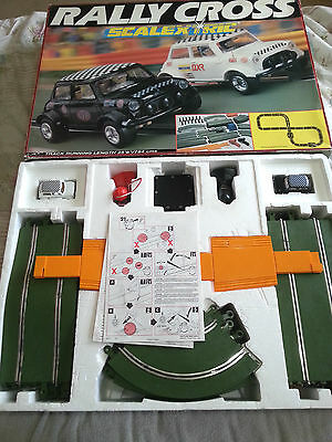 Vintage Scalextric Rally Cross V. Rare Unused Complete Set Mini Green Track 1992