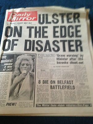 Daily Mirror Vintage Newspaper 15.7.72 Ulster Edge Of Disaster