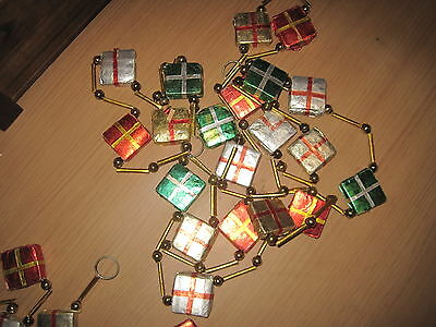 Vintage Japan Garland Presents Mercury Glass Bead Rolled Paper 200""