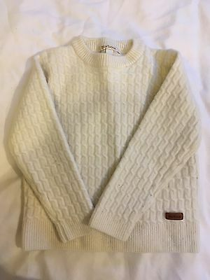 Barbour Cream Jumper. Size Small