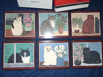 Vintage Boxed Pimpernel Set of Six Table Mats CATS Designs LUXURY QUALITY