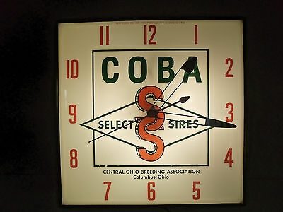 Original COBA Select Sires lighted Advertising Pam Clock