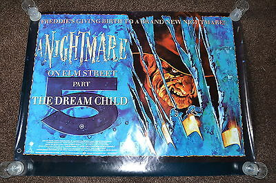 A NIGHTMARE ON ELM ST 5 original cinema Poster 1989 UK quad rolled