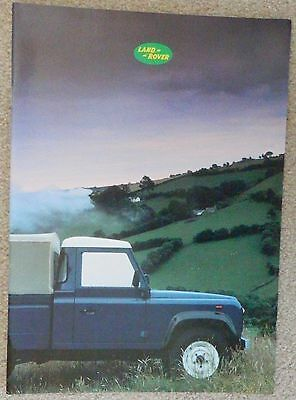 LAND ROVER 90 & 110 Sales Brochure Oct 1986;  LR410 Issue 1