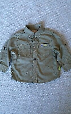 Mothercare 6-9 Months Smart Baby Boys Green Long sleeved Shirt. military. olive