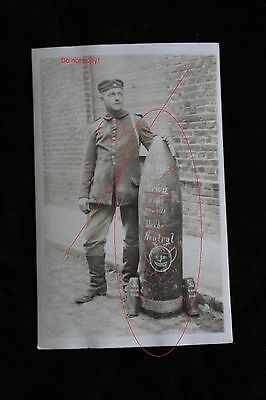 WWI photo from artillery bombs and soldier awarded with iron cross! RARE