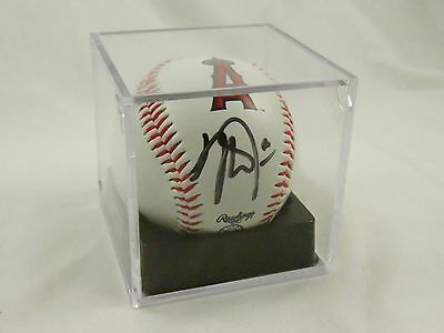 Aunthentic Mike Trout Autographed Official Angels Baseball With Display Case