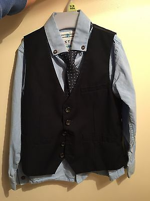 boys waistcoat age 5 With Shirt And Tie