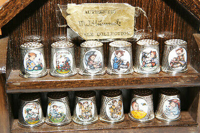 M. J. Hummel silver plated thimble collection