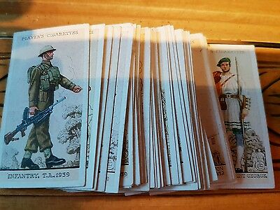 45 cards UNIFORMS of the  TERRITORIAL ARMY    (1939)     (JOHN PLAYER)