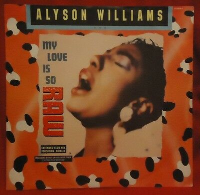 """Alyson Williams - """"my Love Is So Raw - Extended Club Mix Featuring Nikki-D"""" 12"""""""