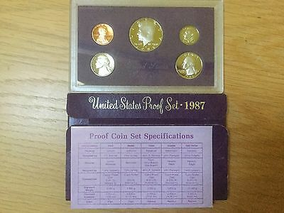 Usa     5 Coin Proof Set 1987