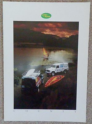 Land Rover County 90 & 110 Station Wagon 1986-87 UK Market Sales Brochure
