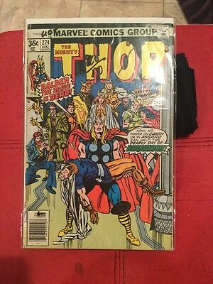 Mighty Thor Comic Book #274 BRONZE AGE with FREE POSTAGE