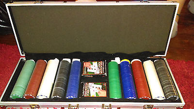 Poker set and case