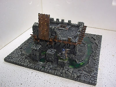 Dungeons & Dragons 12X12 cavernous Drow fortress w/ working doors dwarven forge
