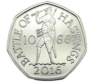 2016 BATTLE OF HASTINGS -  950TH ANNIVERSARY ROYAL MINT FIFTY PENCE 50p BU
