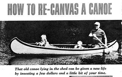 Recanvas Recover Canoe How To Expertly Renew Your Canoe Paddle Fishing Fun #335