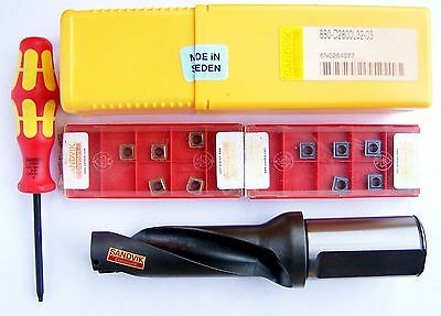 Sandvik 880 - D2800L32-03 28Mm Drill With 14 Inserts All New Made In Sweden