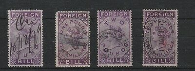 Queen Victoria, Foreign Bill, 1872 High Values (4)