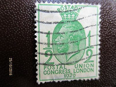 Gb 1929 George V 1/2 Pence Stamp Of Postal Union Congress London 1929