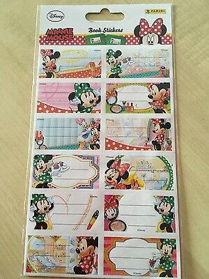 Minnie Mouse Glitter Book Stickers BRAND NEW One Sheet of 12
