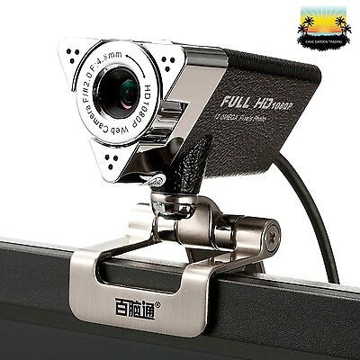 Lychee 1080P HD Webcam USB Web Camera with Built-In Microphone