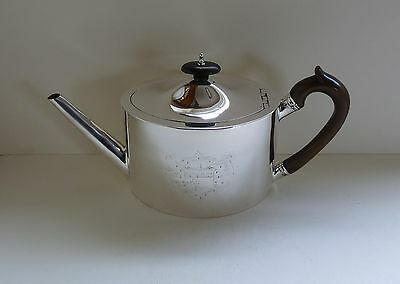 A George III Sterling Silver Teapot, London 1790, by Henry Green