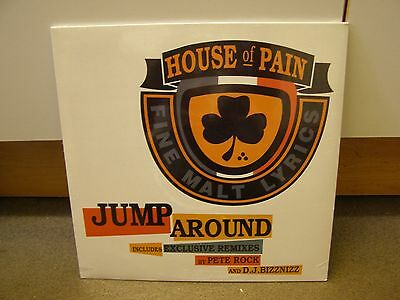 """HOUSE OF PAIN Jump Around 12"""" Record (SEALED!/Rare Vinyl/Tommy Boy)"""