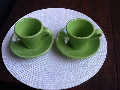Vintage Whitards espresso cups and saucers x 2
