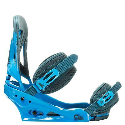 NEW in Box BURTON CUSTOM Snowboard Bindings MEDIUM BLUE DENIM M
