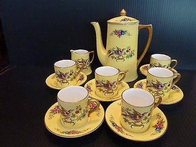 Crown Ducal China Tea Set Yellow Floral Coffee Set
