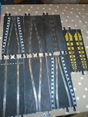 Scalextric VINTAGE TRACK PIECES X 7  VERY GOOD CONDITION PT.74 PT/60 PT/75 MM160
