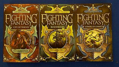 Fighting fantasy books x 3. City of thieves, bloodbones & citadel of chaos. New