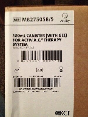 10 KCI ActiVAC Acti V.A.C. VAC 300mL Canister (with GEL) M8275058/5