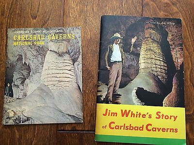 Jim White's Story of Carlsbad Caverns Booklet - 1951, & 1969 caverns information