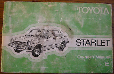 TOYOTA STARLET Owner's manual 1978