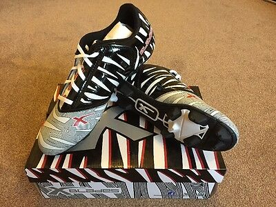 X BLADES Wild Thing Cyber Blades Rugby Boot Adults - Black / White, UK 13