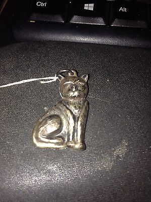 Vintage Cat Pendent Gold Plated