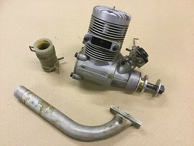 Webra 90 2 stroke glow engine and header pipe