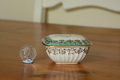 Dresden china dish, floral lid with decoration in gold. No damage or repairs.