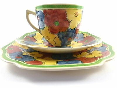 Adams Titian Ware Trio--Cup Saucer Plate--Hand Painted