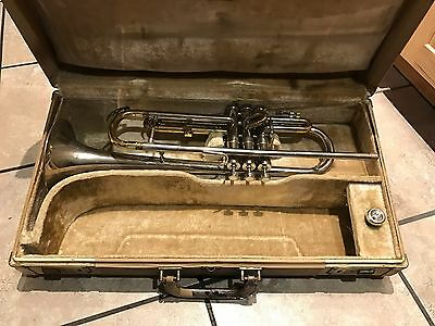Beautiful Silver Vtg 1957 Conn Constellation A Trumpet Cornet Twin Triggers