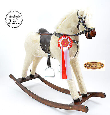 Large Beautiful Handmade Rocking Horse SUNNY MADE IN EUROPE BLACK ALANEL
