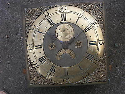 11x11 inch   30hr c1750 LONGCASE  CLOCK dial + movement