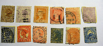 Australia Victoria New South Wales Queensland Old Stamps QV lot731